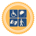 certified ADA coordinator badge